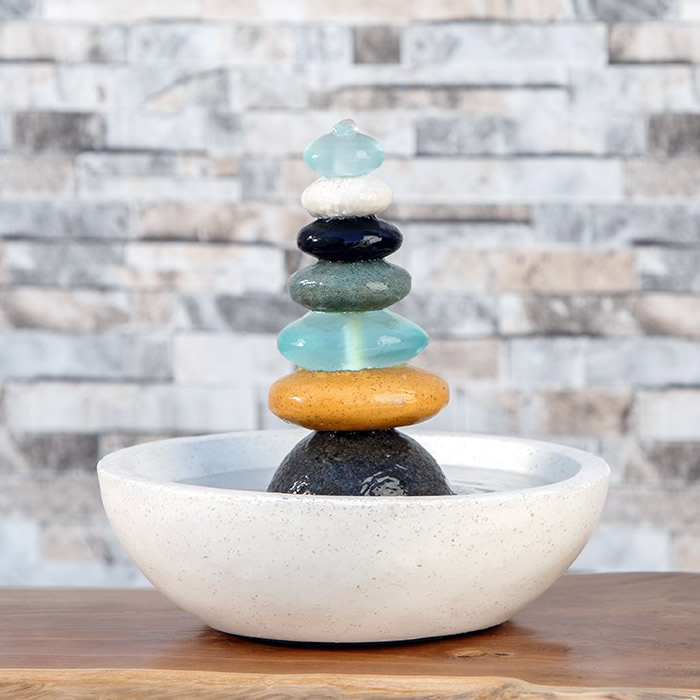 Duncraft Com Rock Cairn Fountain With Glass