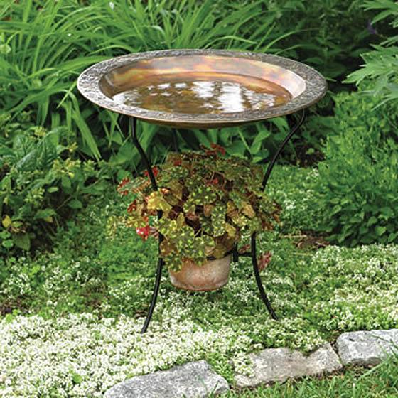 Duncraft Com Embossed Copper Bird Bath