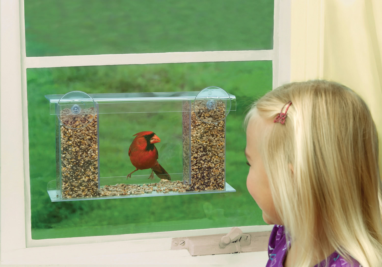 Mirror window bird feeder - Songbird Mirrored Window Feeder