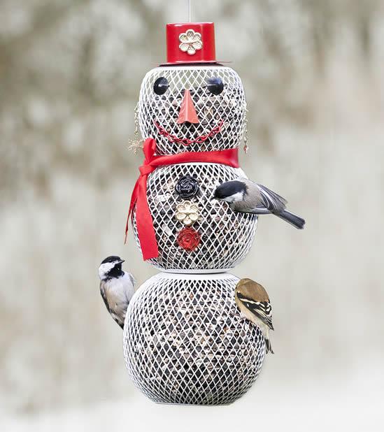 Duncraft Com Mrs Snowman Bird Feeder
