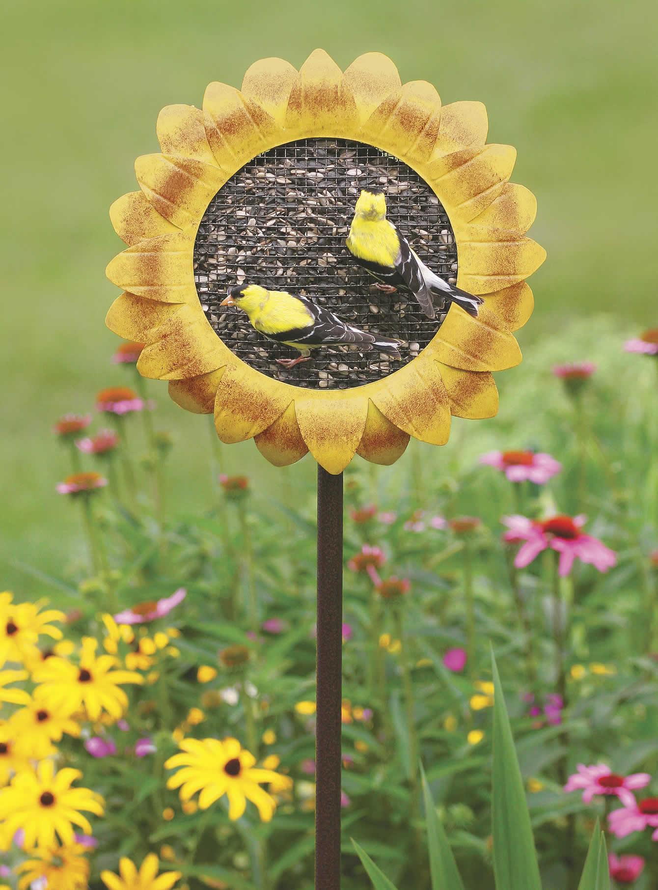 Sunflower Stake Feeder