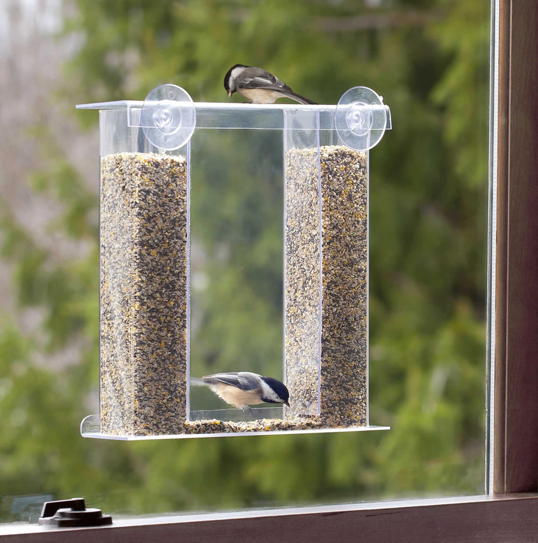 Mirror window bird feeder - Birds Eye View Window Feeder