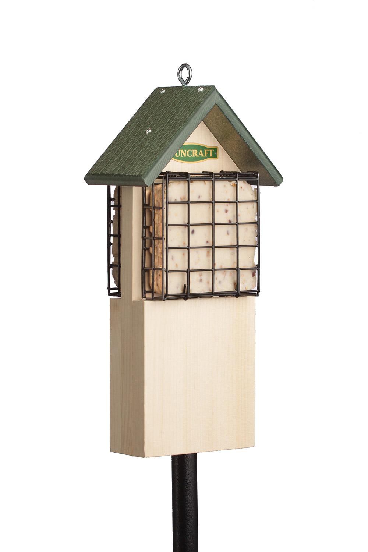 duncraft com  woodpecker tail support suet feeder