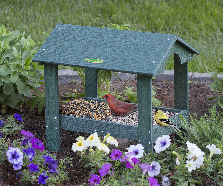 covered ground platform feeder