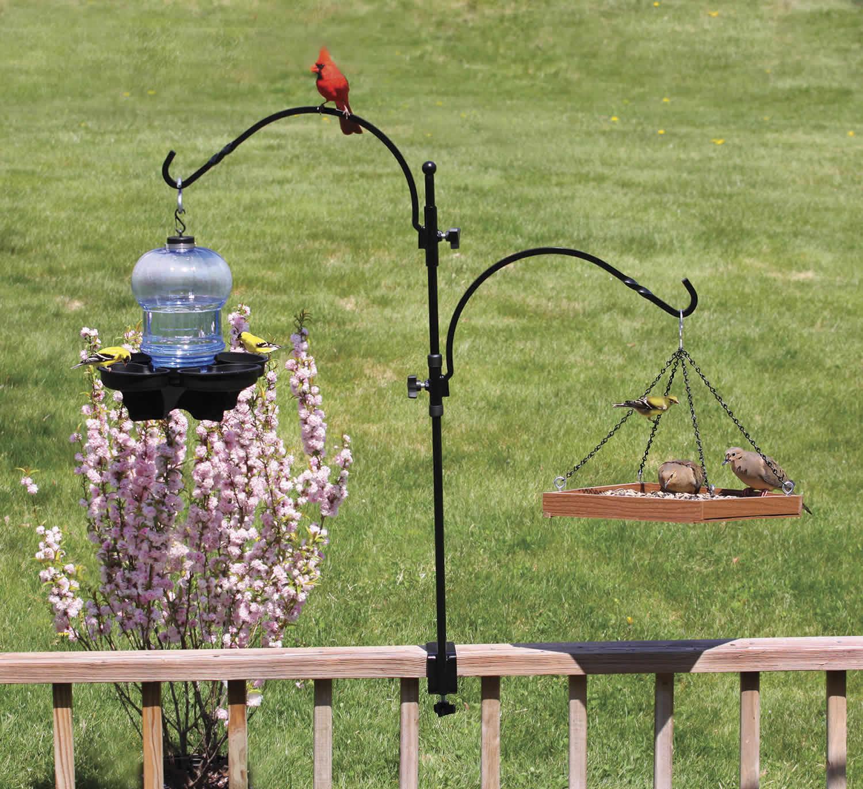 for clamp birdhouse deck feeder front shop hook hangers logo decks bird inch on accessories p woodlink
