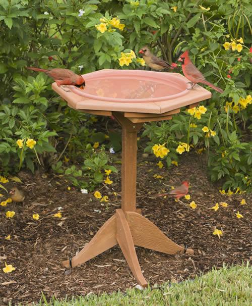 Bon Classic Post Garden Bird Bath