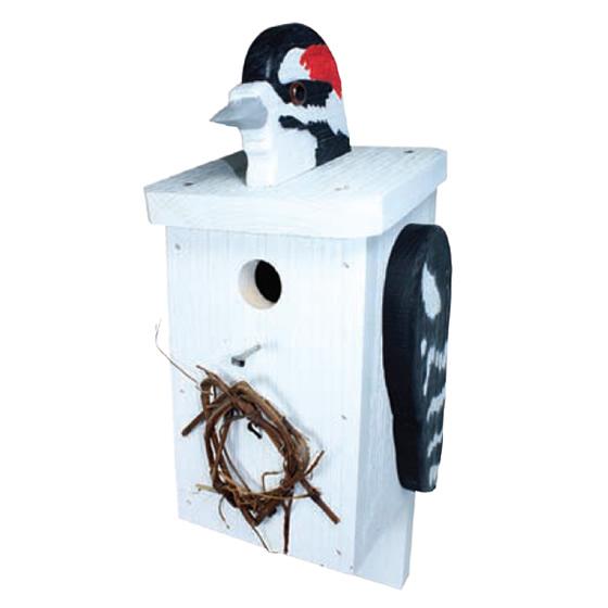 Downy Woodpecker House Downy Woodpecker Bird House
