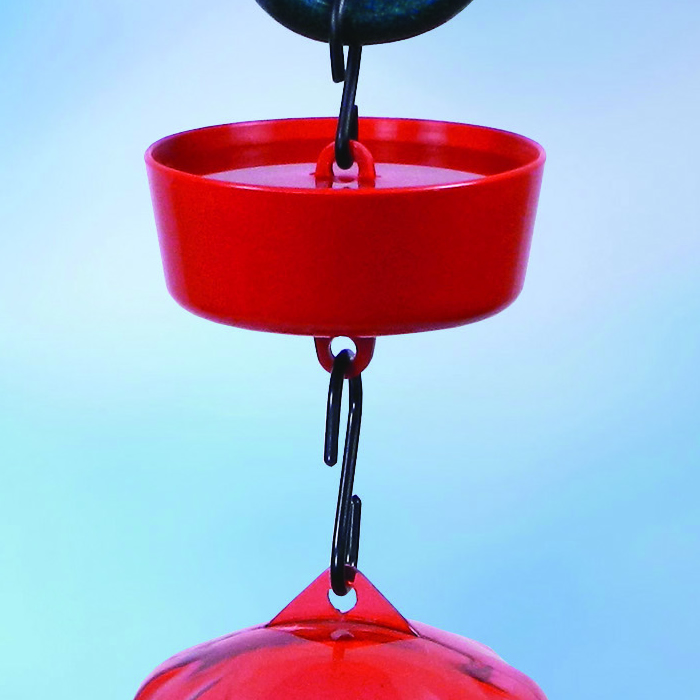 New More Birds Ant Guard for Hummingbird Feeders Red 3.5-Inch Diameter