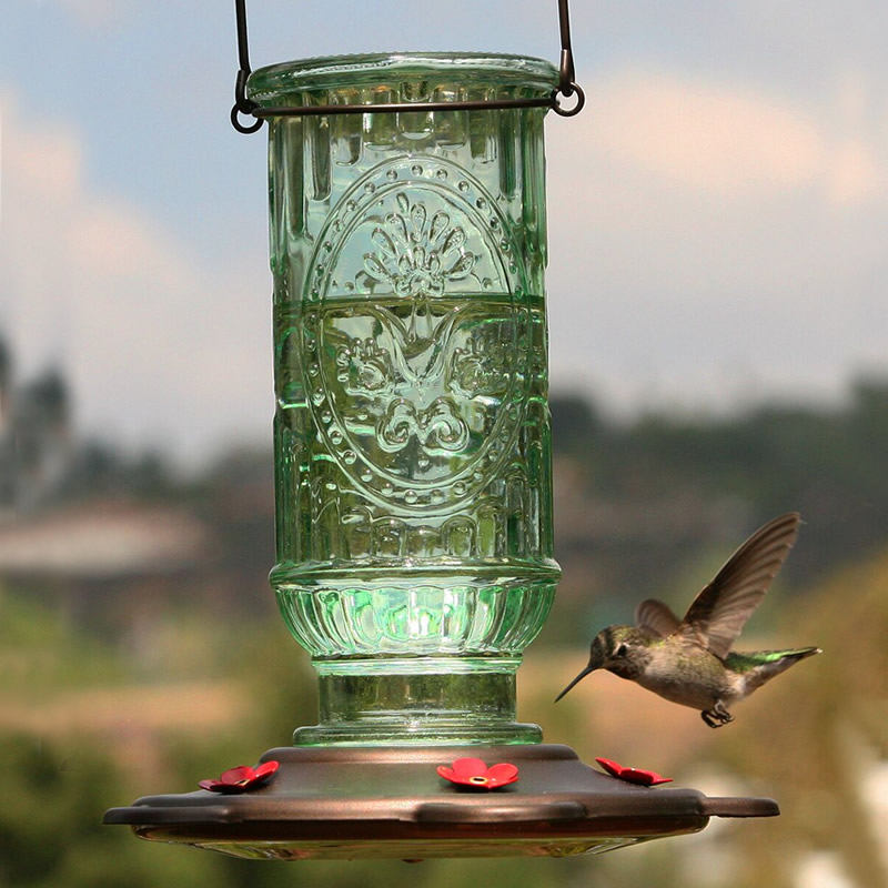 com feeder antique glass feeders sale zoom green duncraft hummingbird for