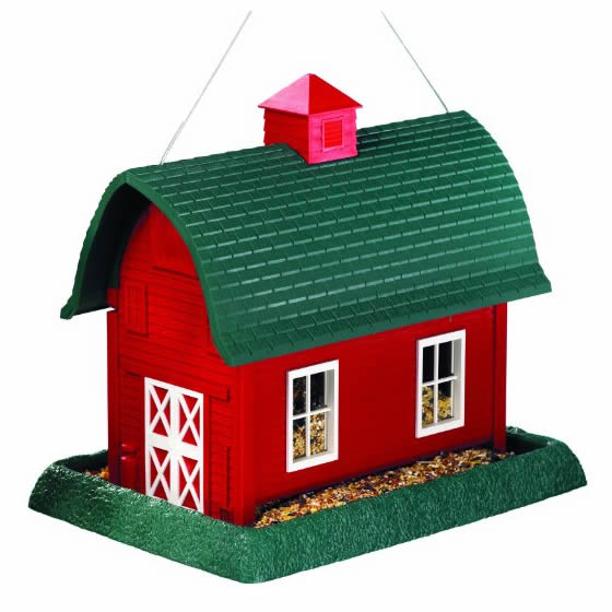 Duncraft Com Large Red Barn Bird Feeder