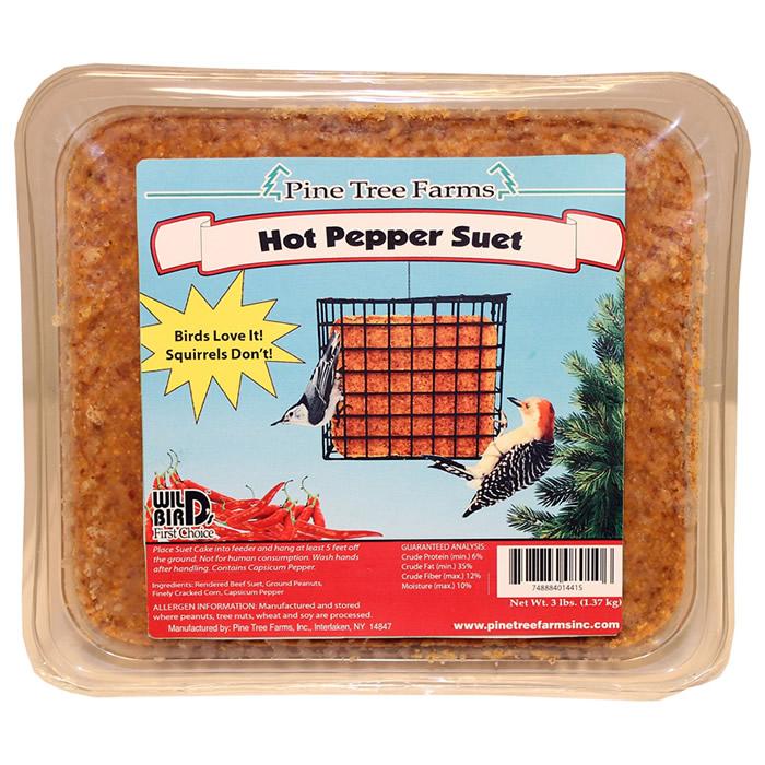 Hot Pepper Suet Cake, 3 lbs