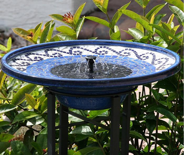 Baño del pájaro del mosaico | Proyectos del patio trasero - pájaros y floraciones