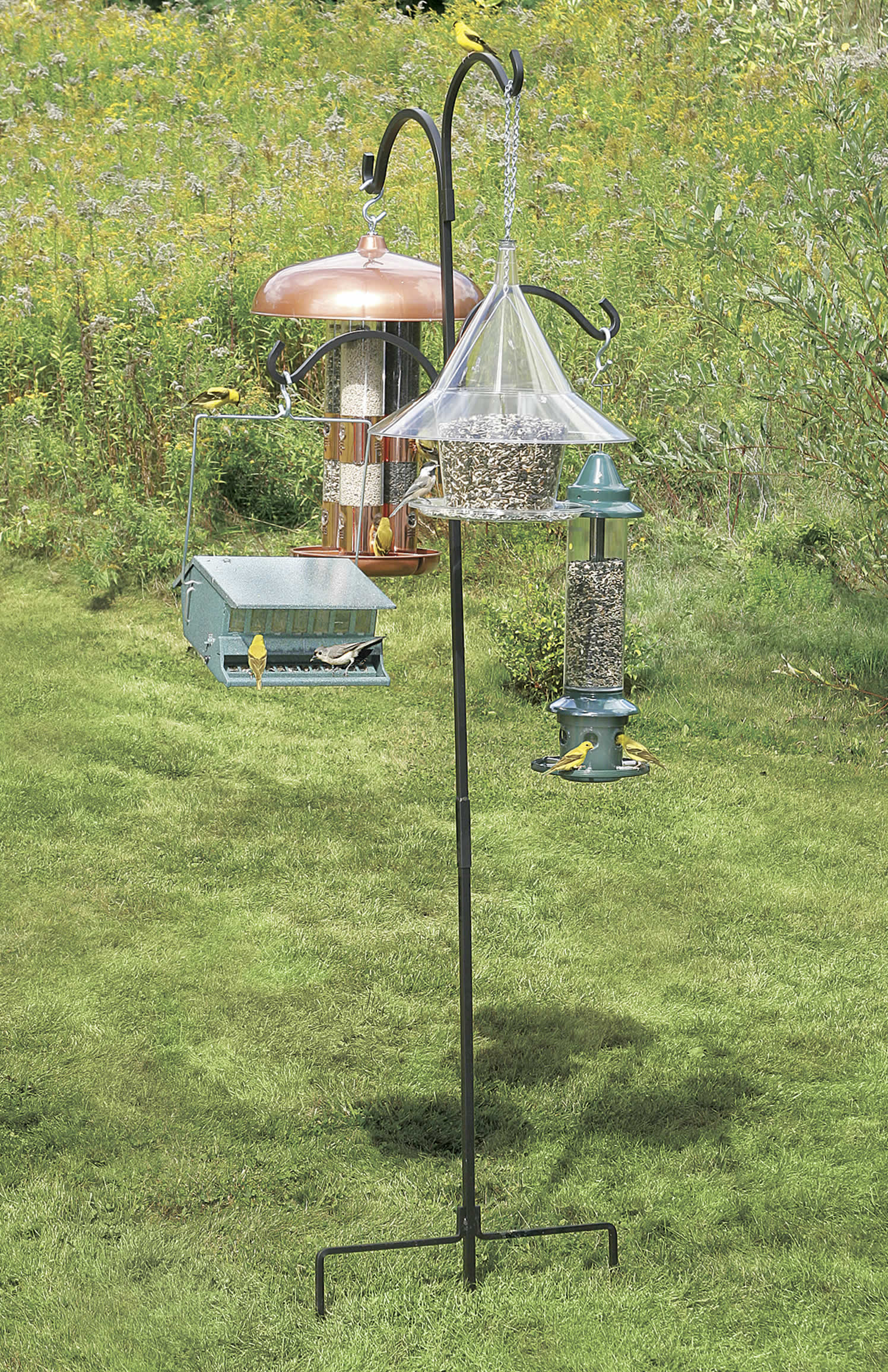 black amazon hangers dp bird outdoor feeder mounted accessories deck select reach garden com stokes metal decks for inch wild pole