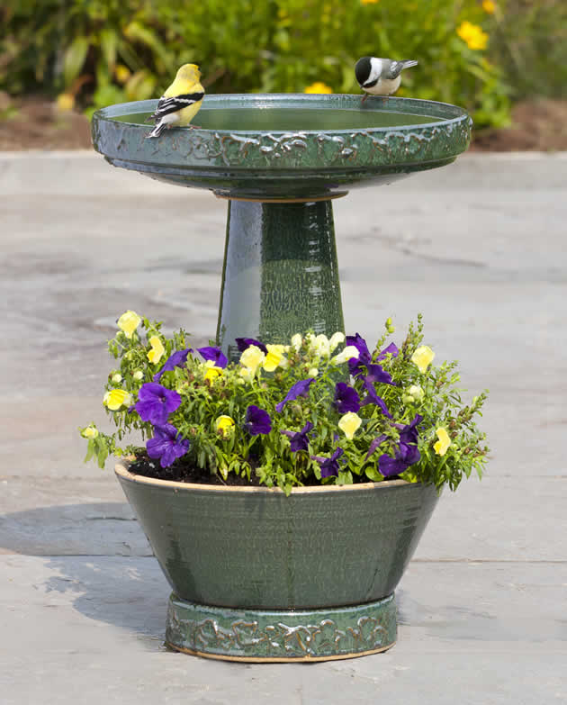 Delightful Garden Bird Bath U0026 Planter