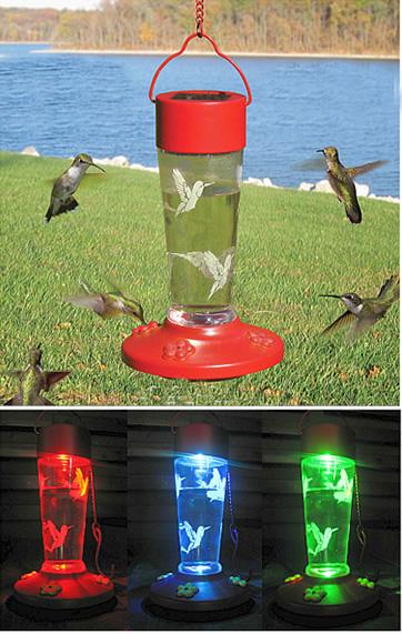 Duncraft Com Red Solar Hummingbird Feeder