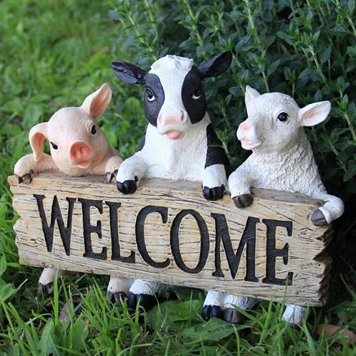 Duncraft Com Farm Animals Welcome Statue