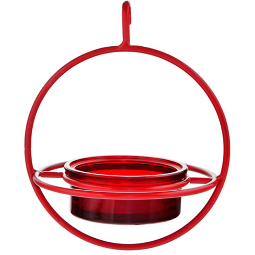 Red Hanging Sphere Feeder with Perch