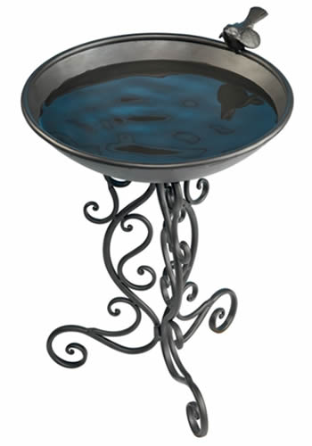 Ornate Metal Birdbath