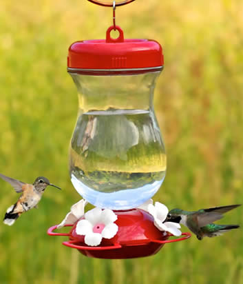 Top Fill Glass Hummer Feeder