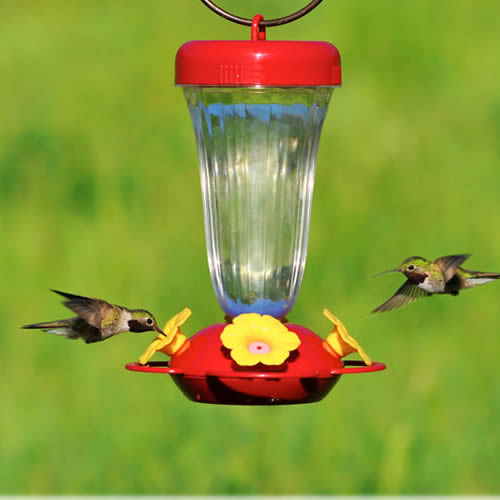 Yellow Flower Top Fill Hummer Feeder