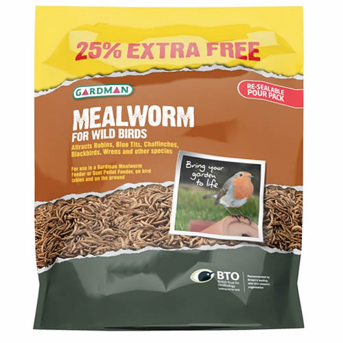 Dried Mealworm Pouch - 42 Ounces