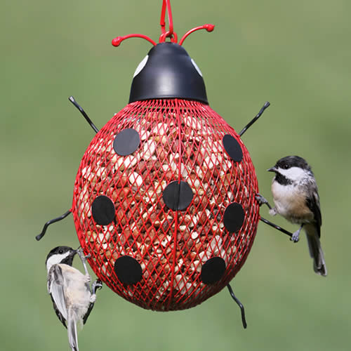 No-No Ladybug Mesh Bird Feeder