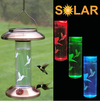 Solar Hummingbird Feeder