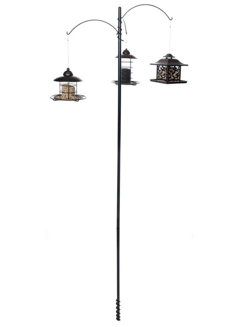 Acadia Bird Feeder Pole - Black or White -
