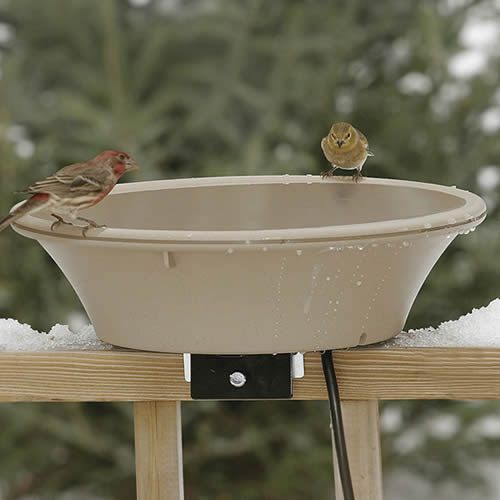 14- Heated Bird Bath with EZ-Tile Deck and Pole Mount