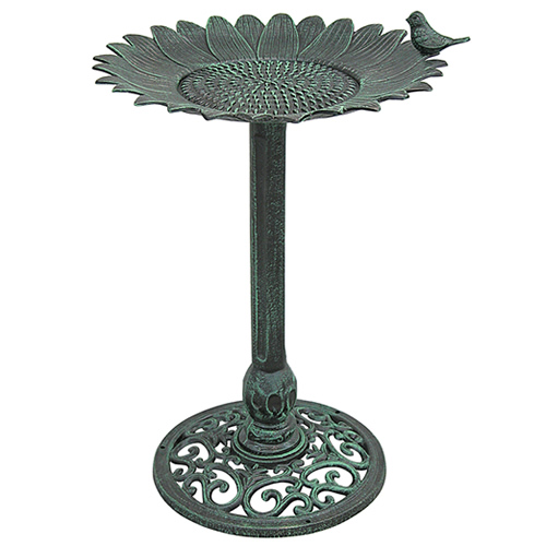 Sunflower Birdbath with Stand