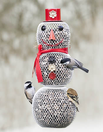 Mrs Snowman Feeder (38% OFF)