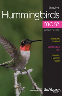 "Learn about these little ""flying jewels"".Completely revised by hummingbird expert Nancy Newfield, this booklet includes the latest in feeding and gardening tips, plus profiles of more than a dozen common backyard hummer species. Jammed full of color photographs and useful info, this booklet is your ticket to being a happy host to hummers."