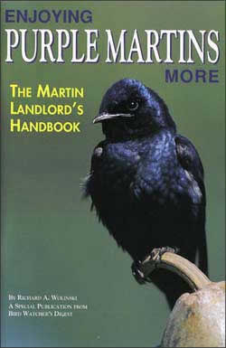Enjoying Purple Martins More is the first complete handbook for the purple martin landlord. Includes a scout-arrival-dates map, a predator baffle design, and a martin colony troubleshooting chart.Each 32-page guide in the Backyard Booklet Series is packed with practical, easy-to-understand information, color photographs, and useful tips.