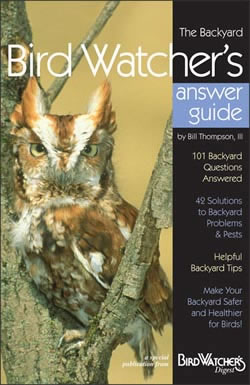 The Backyard Bird Watcher's Answer Guide answers 101 of the most-often-asked questions about birds. Bird Watcher's Digest editor Bill Thompson, III has compiled material from the magazine's decades of answering questions, offering tips and solving problems for backyard bird watchers. Each 32-page guide in the Backyard Booklet Series is packed with practical, easy-to-understand information, color photographs, and useful tips.
