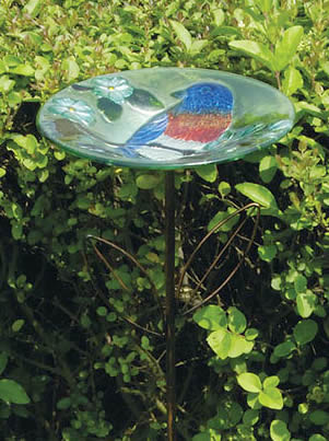Blissful Bird Stake Feeder