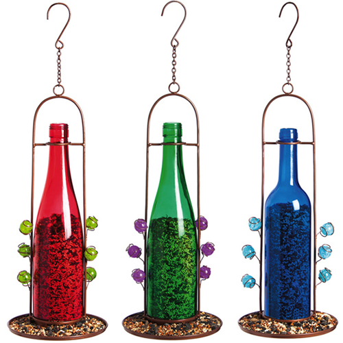 Bottle Hanging Dish Feeder