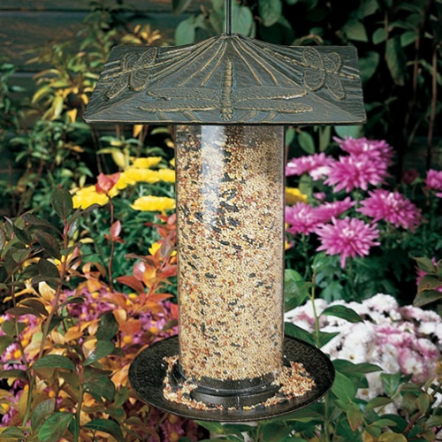 Whitehall Dragonfly Tube Bird Feeder (30037) photo