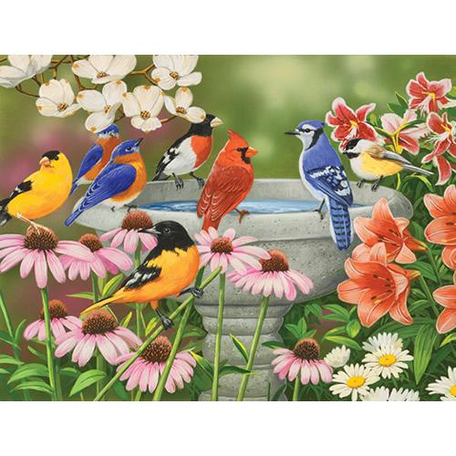 Garden Birdbath Puzzle - 500 pcs.