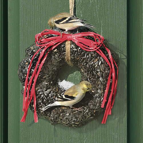 Duncraft Com Duncraft Sunflower Bird Seed Wreath