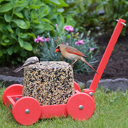 Red Seed Block Wagon