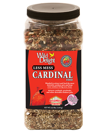 Less Mess Cardinal Bird Seed Jar