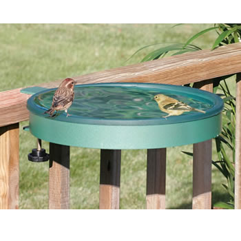 Clamp Mount Deck Bird Bath