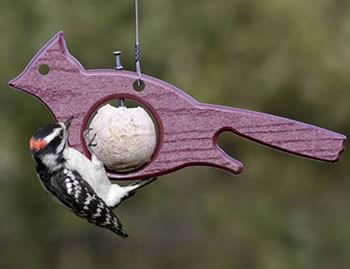 Eco Cardinal Suet Ball Feeder