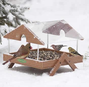 Ground Tray Table Bird Feeders