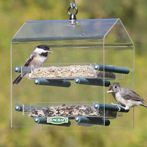 Hanging Twin Removable Trays Feeder
