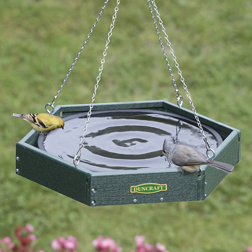 Hanging Hexagon Bird Bath