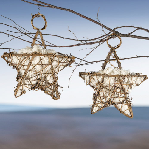 Grapevine Nesting Star - Set of 2