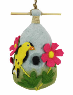 Woolie Goldfinch Bird House