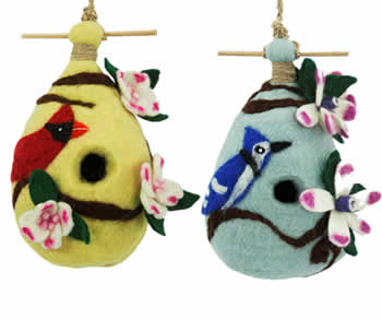 Woolie Bird House Set of 2