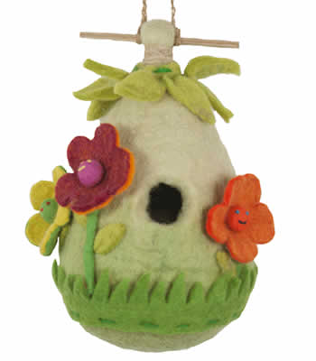 Woolie Flower Bird House
